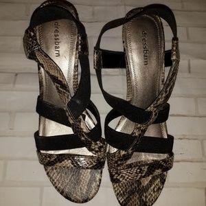 Dressbarn women heels shoes size 9M